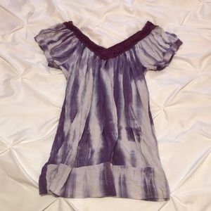 Tops - Purple Tie-dye top